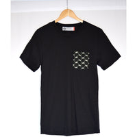 Black Reverse Kufiya Pocket Tee™