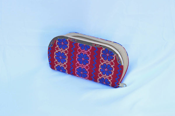 Red and Blue Tatreez Wallet