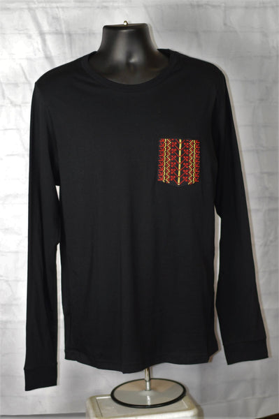 Long Sleeve Tatreez Pocket Tee