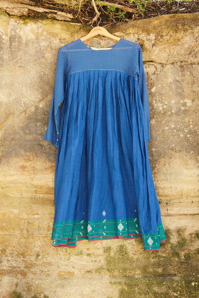 FRENCH CHEMISE DRESS, COBALT BLUE - SAAKI