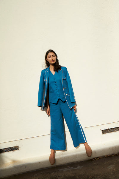 THE NILAM SUIT, BLUE