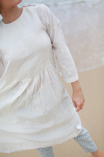 AZIRA DRESS, OFF WHITE - SAAKI