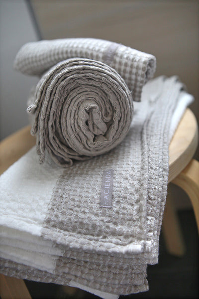 ORGANIC COTTON TOWEL SETS, PASTELS - SAAKI