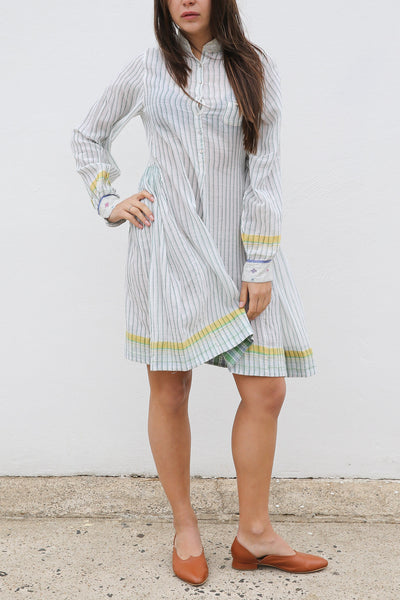 ROMILLA SHIRT DRESS, STRIPE WHITE/BLUE - SAAKI