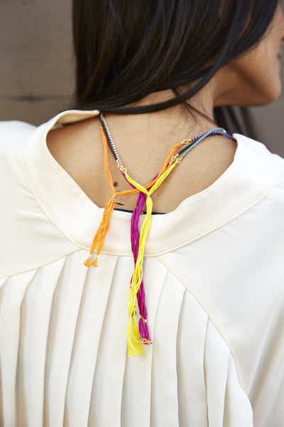 SAM NECKLACE, BEADED MULICOLOR - SAAKI