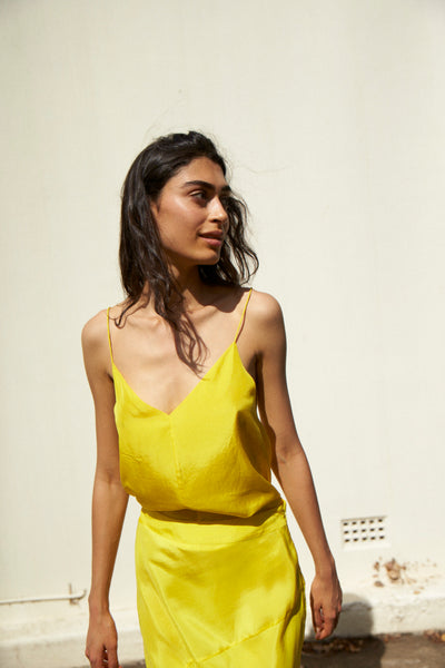 MAYA CAMI, YELLOW SILK