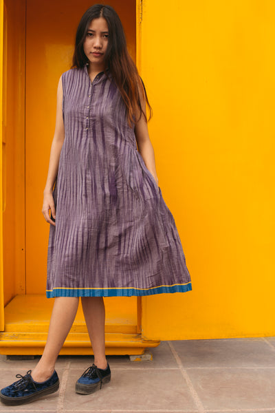 IKAT DRESS, LILAC - SAAKI