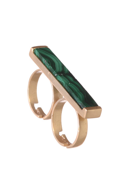 TAG MALACHITE RING - SAAKI