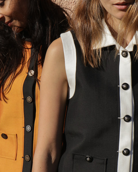 JODHPUR VEST, ORANGE/BLACK - SAAKI