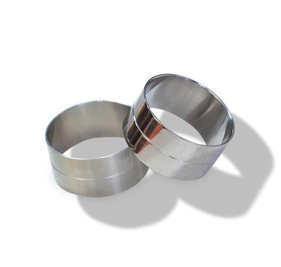 TWO-TIER BANGLE, STAINLESS STEEL - SAAKI