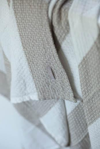 ORGANIC COTTON STRIPE TOWEL, PASTELS - SAAKI