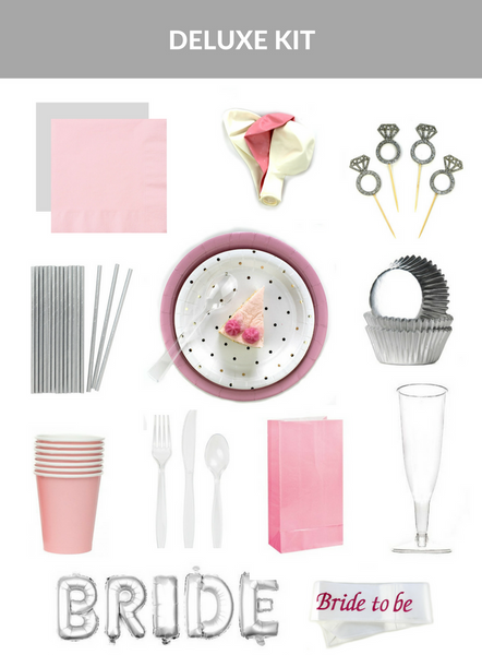 Pink & Silver Bridal Shower Kit