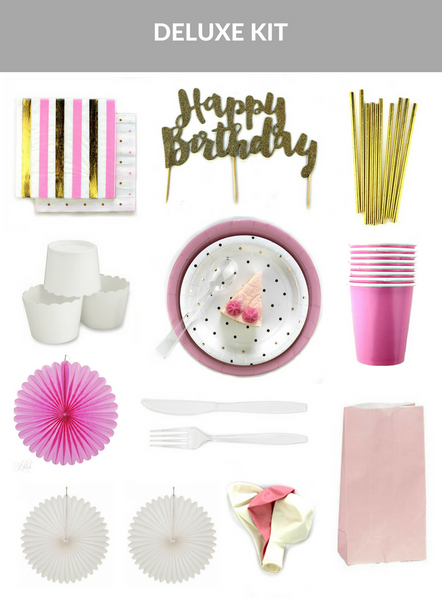 Pretty In Pink Birthday Party Kit