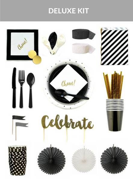 Black And White Party Kit (Deluxe Size)