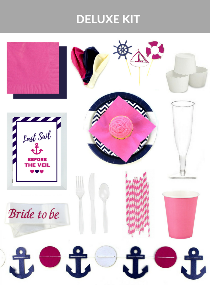 nautical themed hens party kit