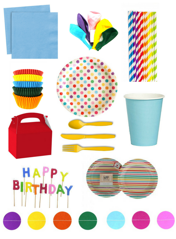 Rainbow Birthday Party Kit