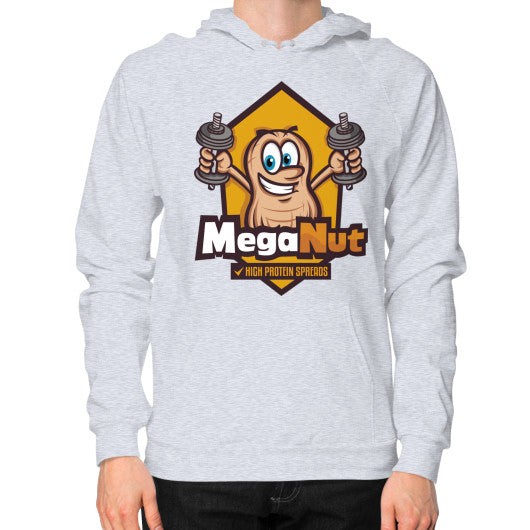 Hoodie (on man) Heather grey MegaNut