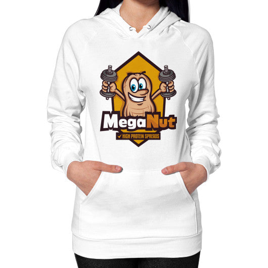 Hoodie (on woman) White MegaNut