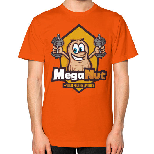 Unisex T-Shirt (on man) Orange MegaNut