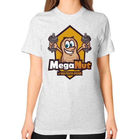 Unisex T-Shirt (on woman) Ash grey MegaNut