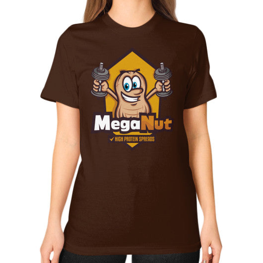 Unisex T-Shirt (on woman) Brown MegaNut