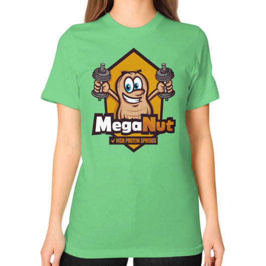 Unisex T-Shirt (on woman) Grass MegaNut