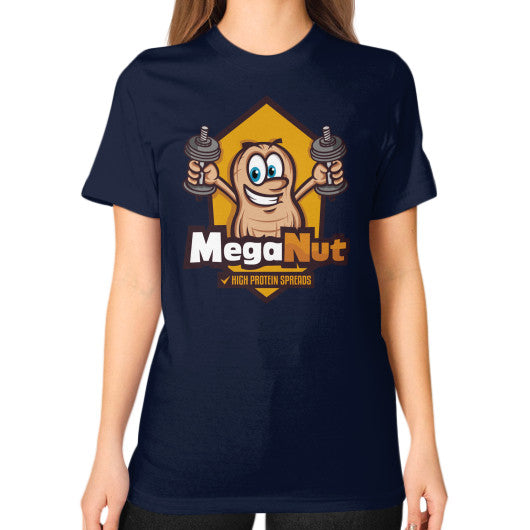 Unisex T-Shirt (on woman) Navy MegaNut
