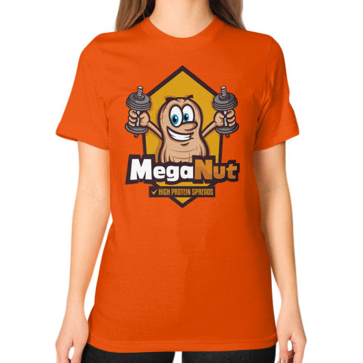 Unisex T-Shirt (on woman) Orange MegaNut