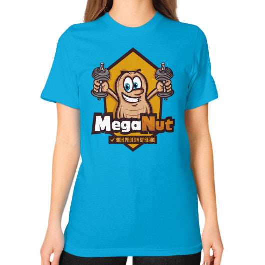 Unisex T-Shirt (on woman) Teal MegaNut