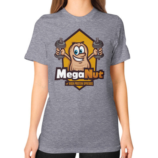 Unisex T-Shirt (on woman) Tri-Blend Grey MegaNut
