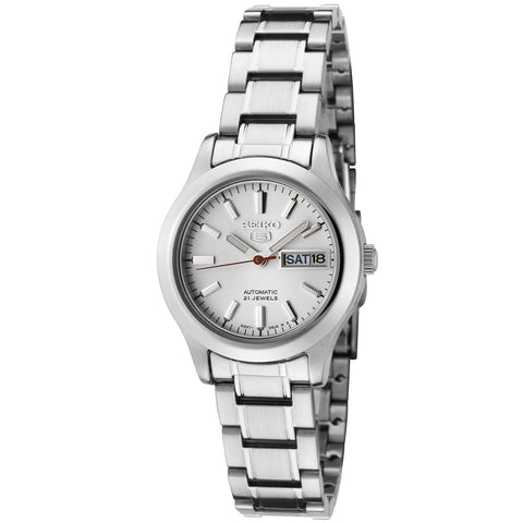 Seiko Women's SYMD87 Seiko 5 Automatic Light Silver Dial Stainless Steel Watch