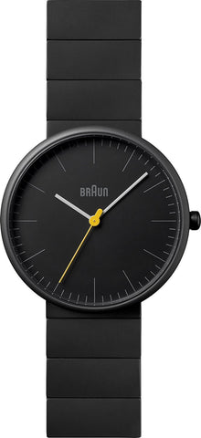 Braun Men's BN0171BKBKG Ceramic Analog Display Japanese Quartz Black Watch
