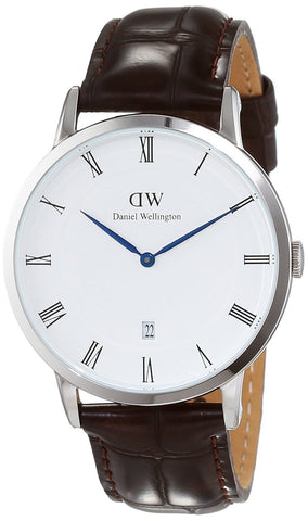 Daniel Wellington - Dapper York - Silver 38mm Unisex Leather watch