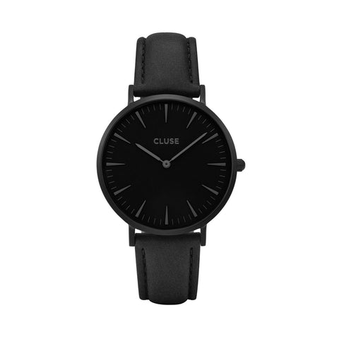 Cluse La Bohème Black/Black Womens Leather Watch CL18501