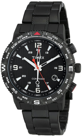 Timex Men's T2P288 Intelligent Quartz Adventure Series Black Stainless Steel Watch