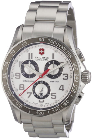 Victorinox Swiss Army Men's 241445 Chrono Classic Silver-Tone Chronograph Dial Watch