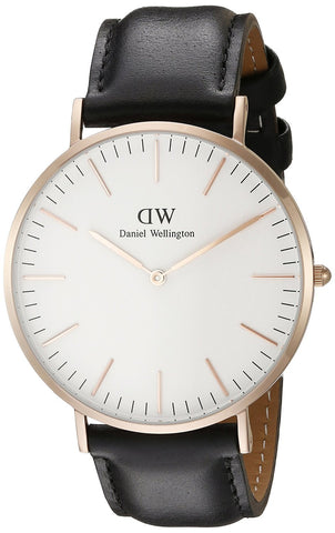 Daniel Wellington Men's 0107DW Classic Sheffield Watch with Black Band