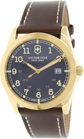 Victorinox Swiss Army Infantry Brown Dial Gold-Tone SS Quartz Male Watch 241645