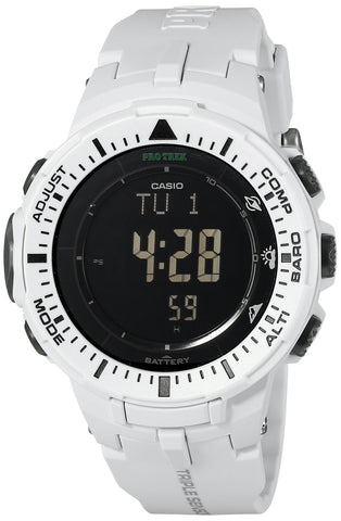 Casio Men's PRG-300-7CR Pro Trek Digital Watch with White Band