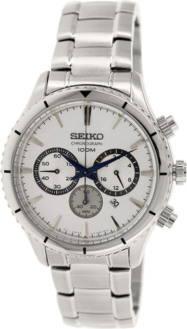 Seiko Chronograph Silver Dial Stainless Steel Watch SRW033P1