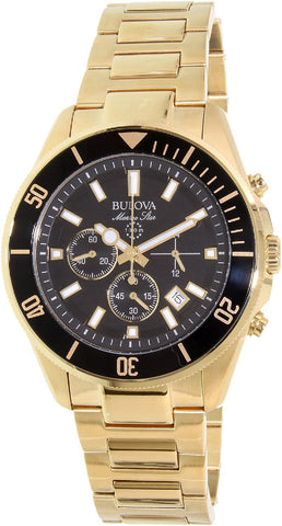 Bulova Men's Marine Star - 98B250 Yellow Gold Watch