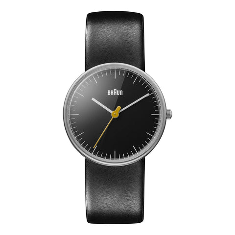 "Braun Women's BN0021BKBKL ""Classic"" Stainless Steel Watch with Leather Band"