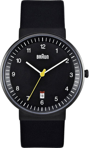 Braun Men's BN0032BKBKG Classic Analog Display Quartz Black Watch
