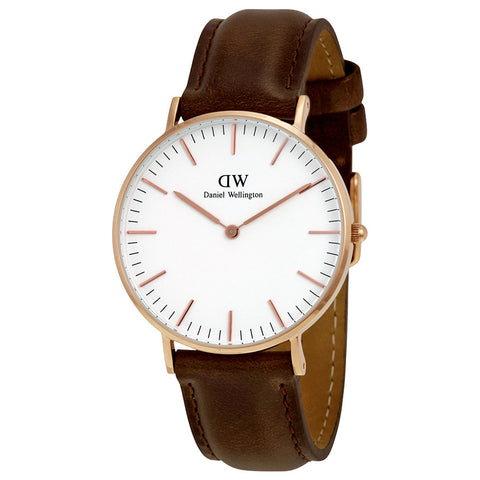 Daniel Wellington Women's 0511DW Classic Bristol Analog Display Quartz Brown Watch