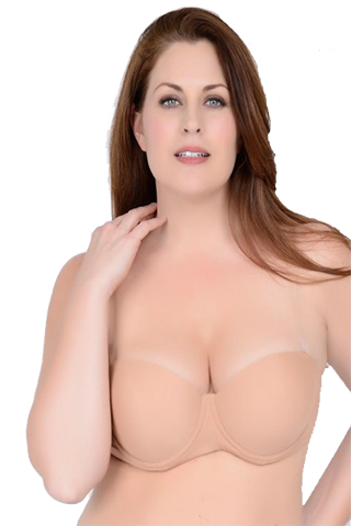 Clear Back Padded Molded Bra - Sense Lingerie  - 1