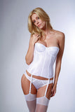 Satin Corset Bridal Bra in White - Sense Lingerie  - 3