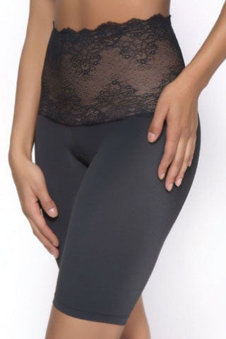 Lace Top Tummy Control Long Leg - Sense Lingerie  - 1