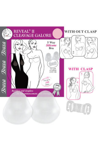 Reveal 2 Silicone Cleave Galore Bra - Sense Lingerie  - 1