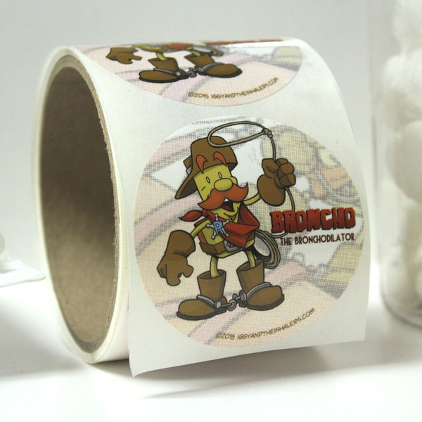 Character Sticker Roll (50 stickers) - Broncho