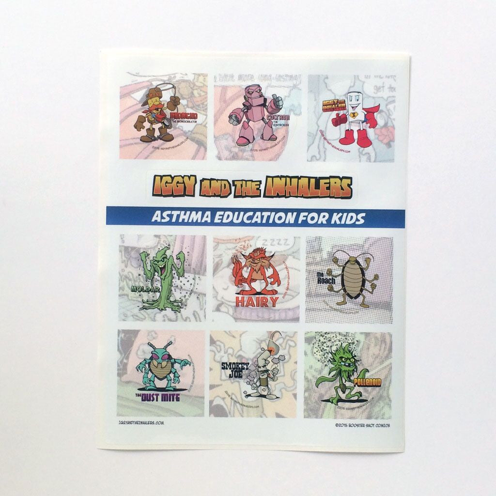 Asthma Sticker Sheets